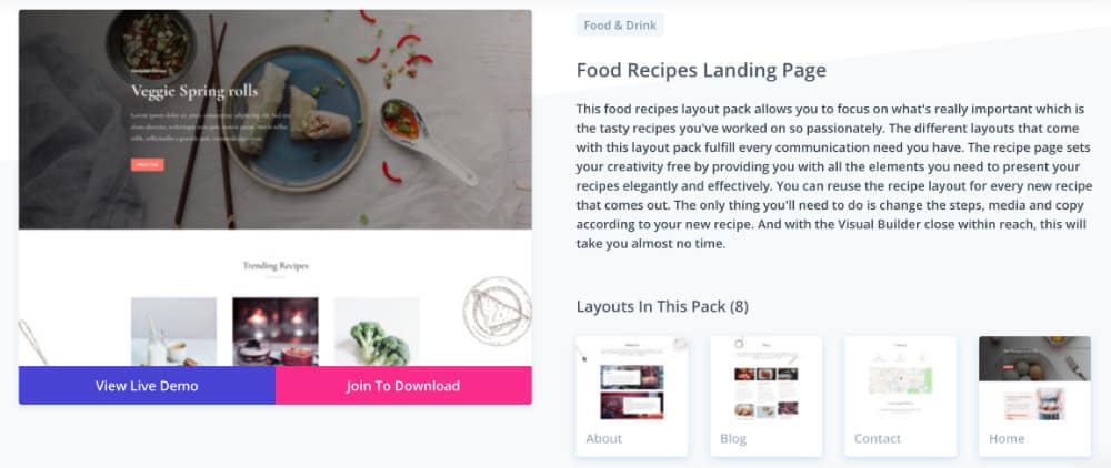 layout food