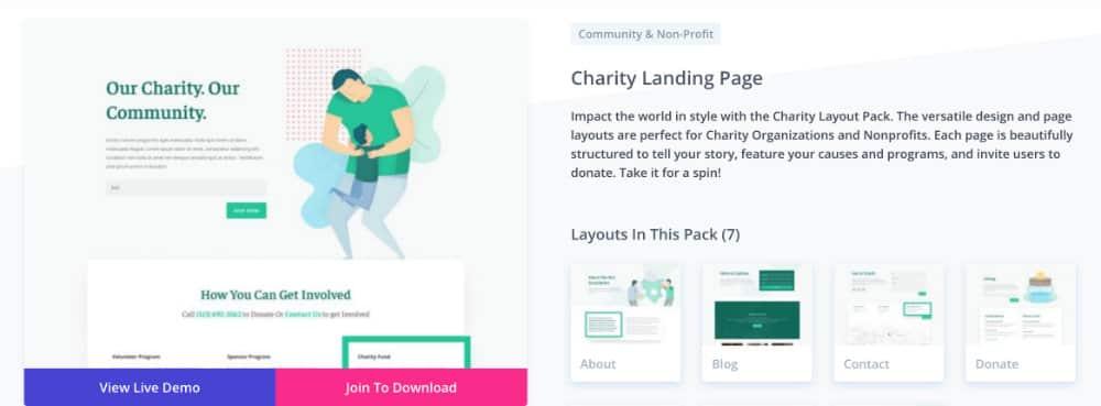 layout non-profit
