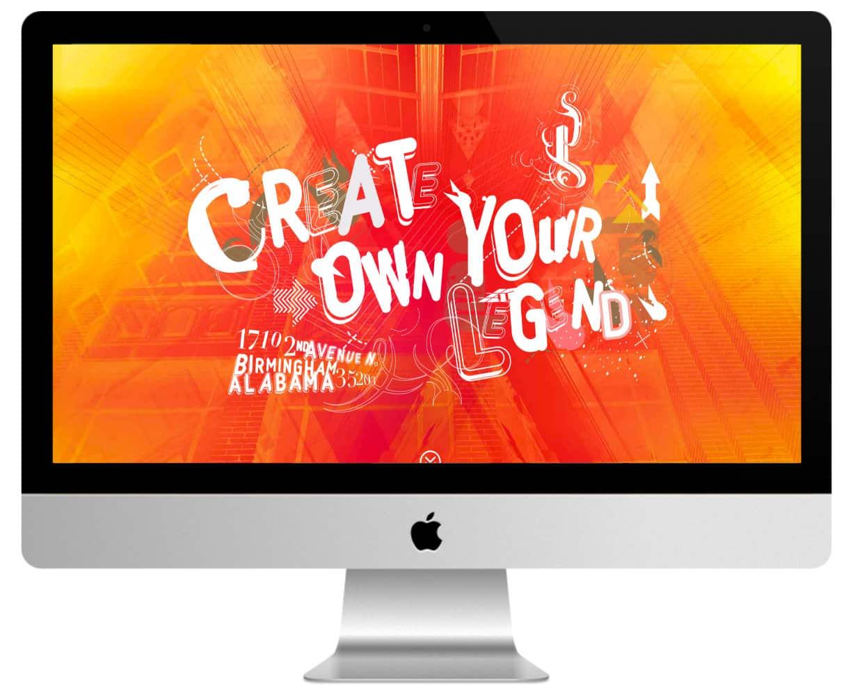 siteweb couleur orangée