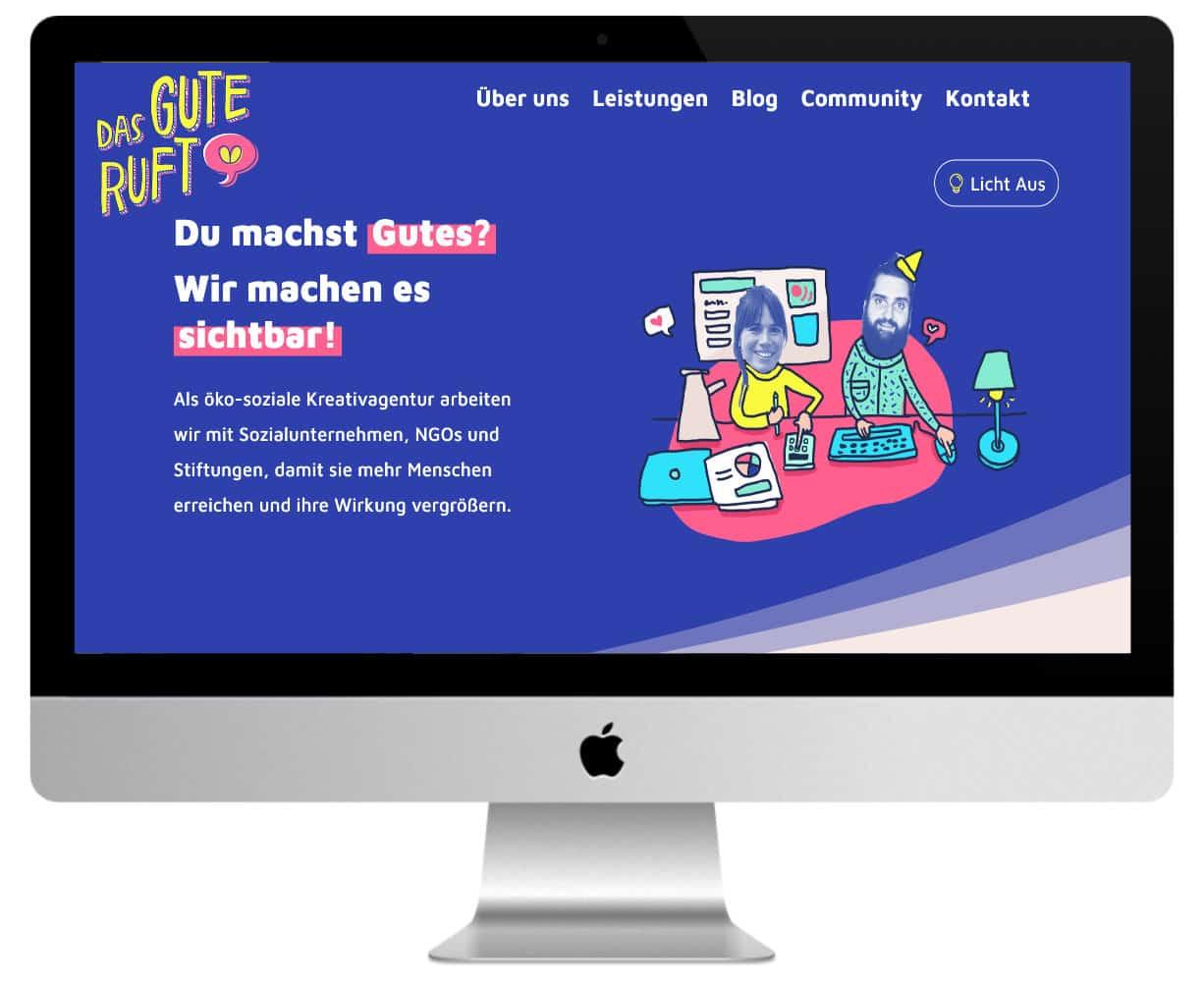 siteweb couleur bleue