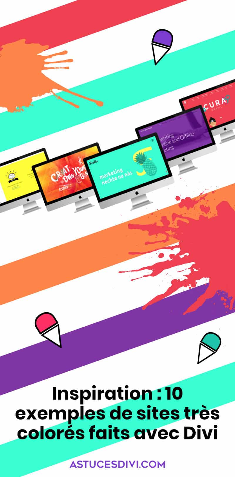 sites divi très colorés