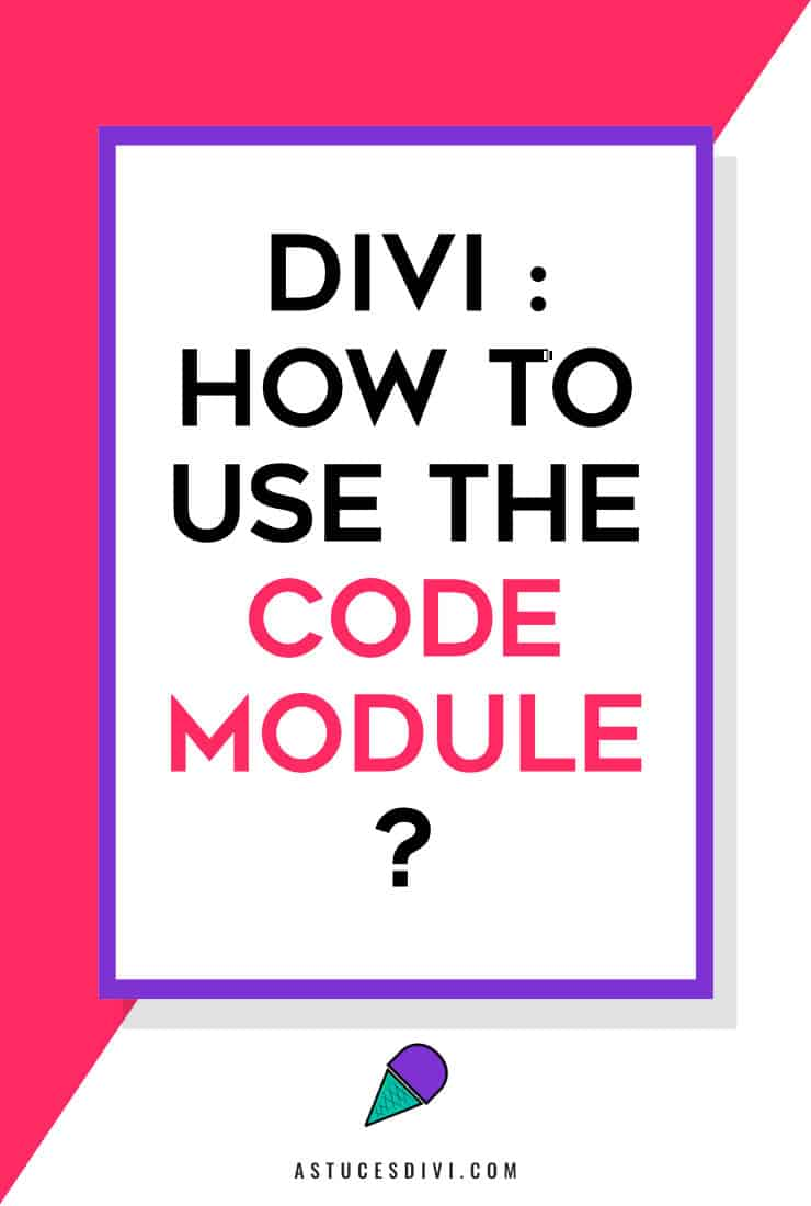 how to use code module Divi