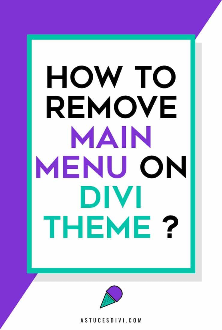 remove main menu Divi