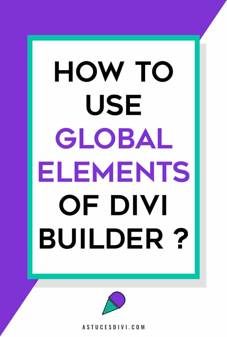 use global element Divi
