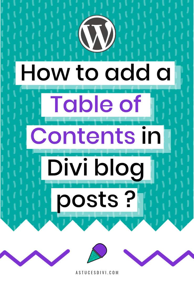 Insert a table of contents in Divi blog post