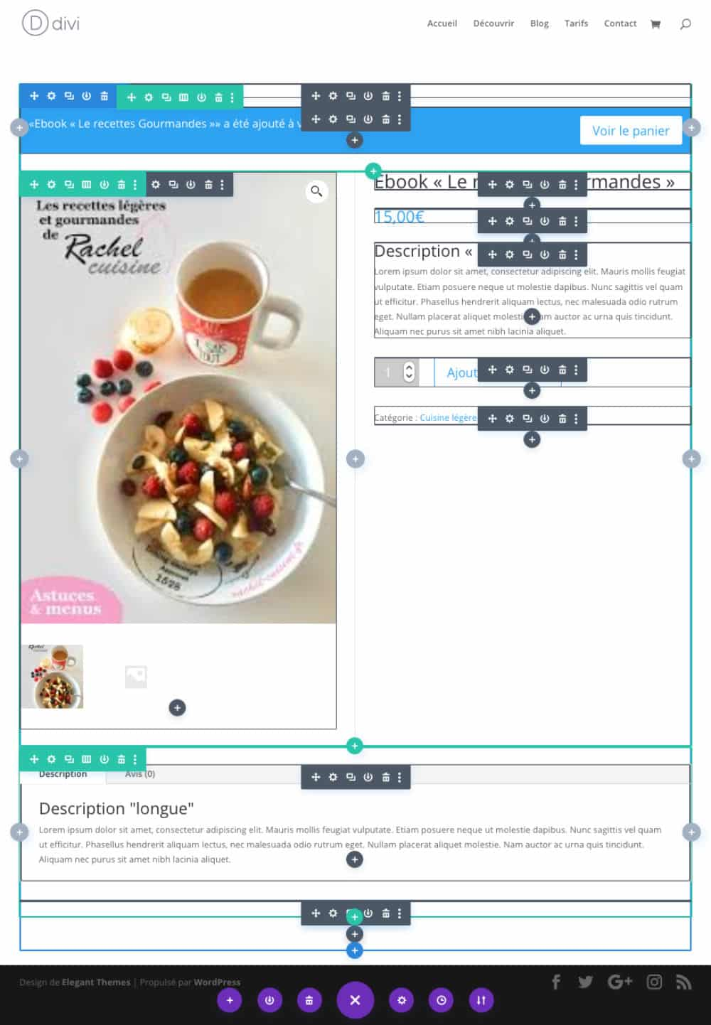 Produit : Visual Builder actif