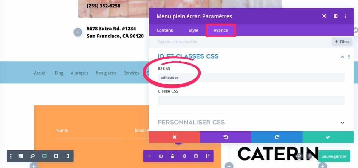 ID CSS pour obtenir un menu Sticky