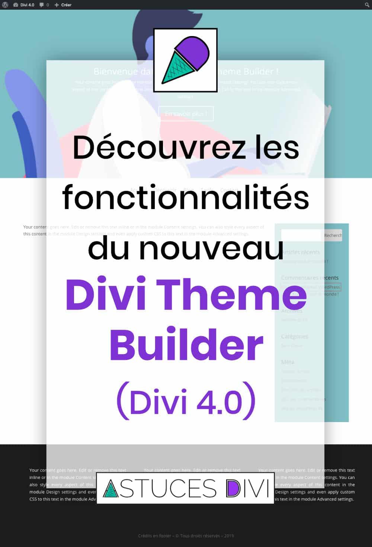 les fonctionnalités du Theme Builder