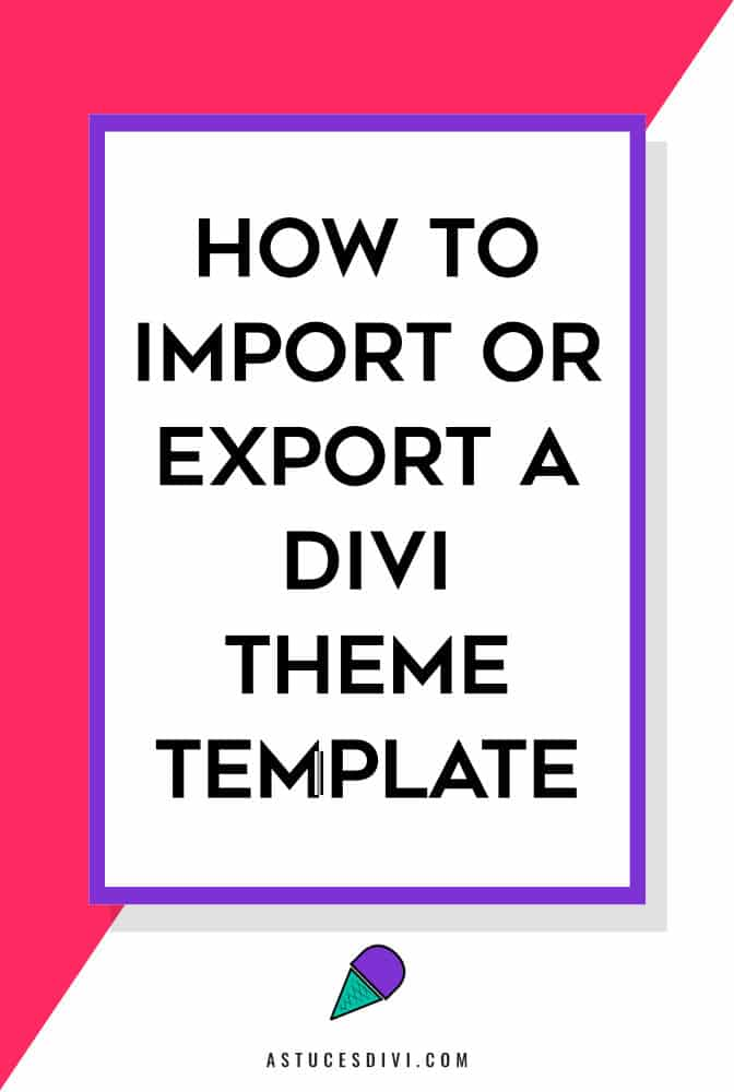 import-export a theme template