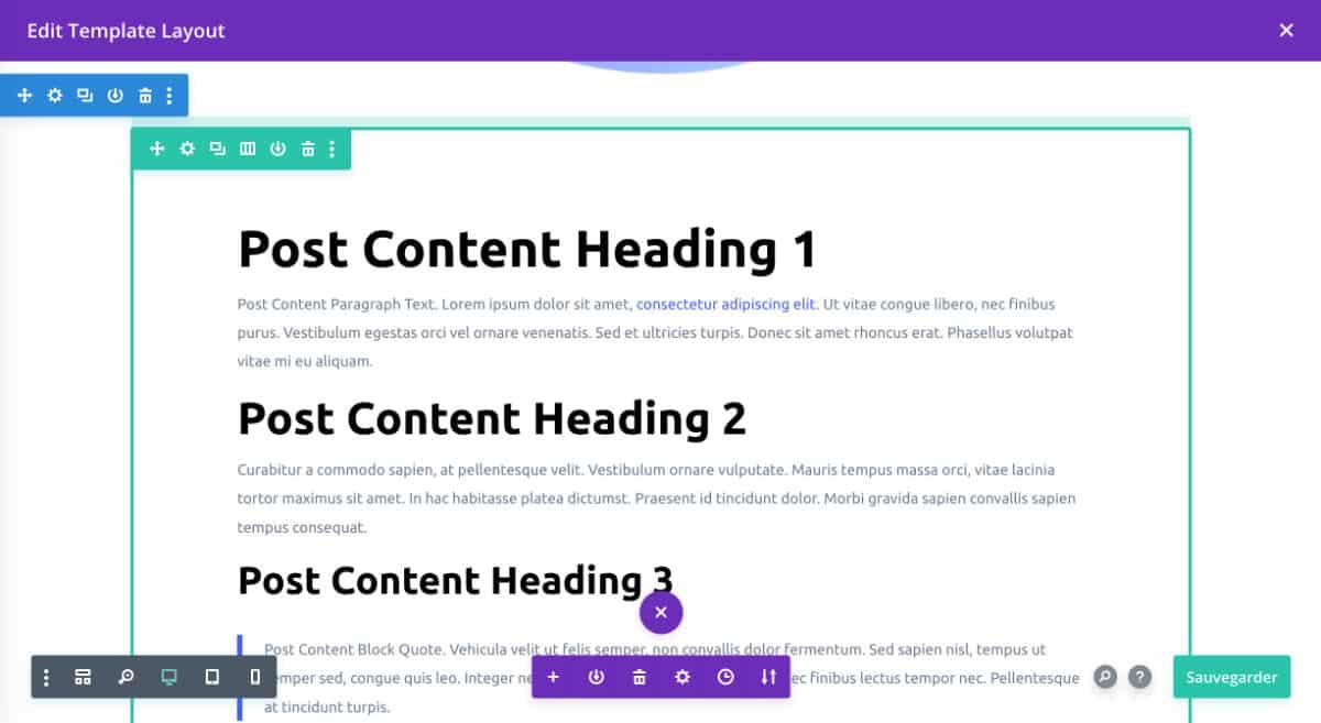 module Post Content dans la fiche produit WooCommerce