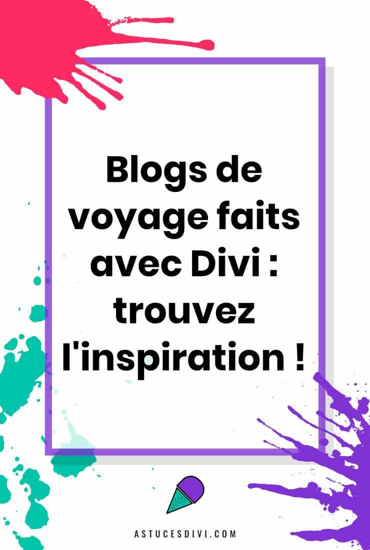 Blog de voyage Divi
