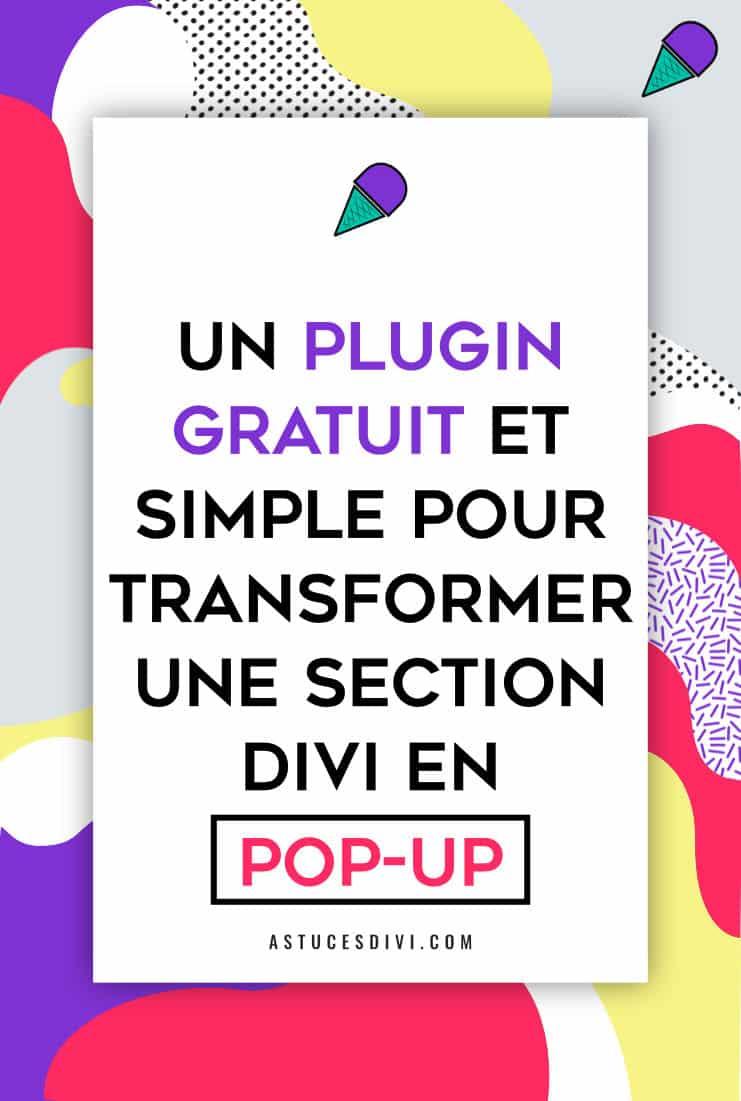"Plugin ""popups for Divi"""