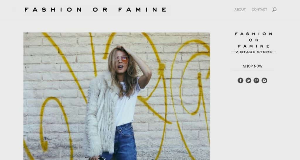 site de mode divi : fashion or famine