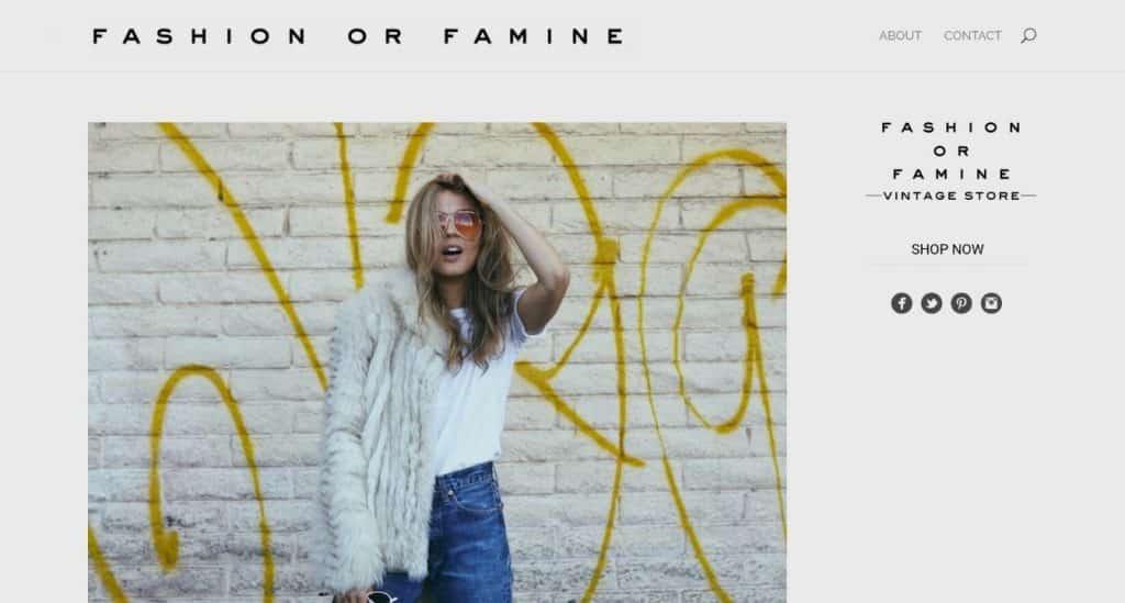 site de mode divi : fashion or famine