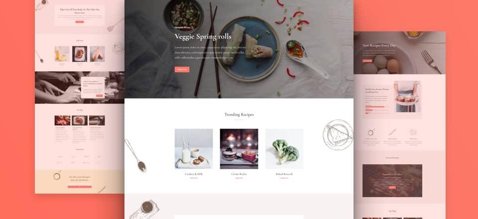 divi food recipes layout