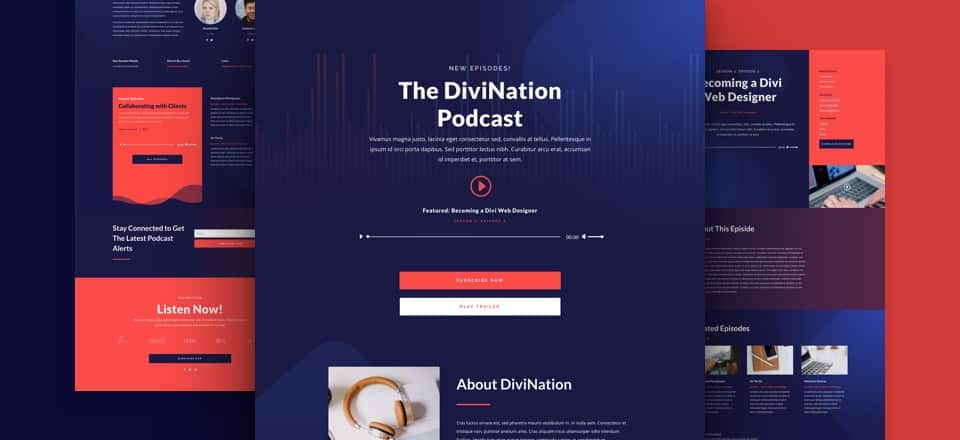 divi podcast layout pack blog
