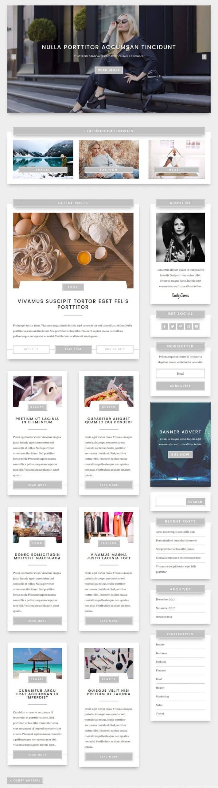 layouts divi pour page de blog
