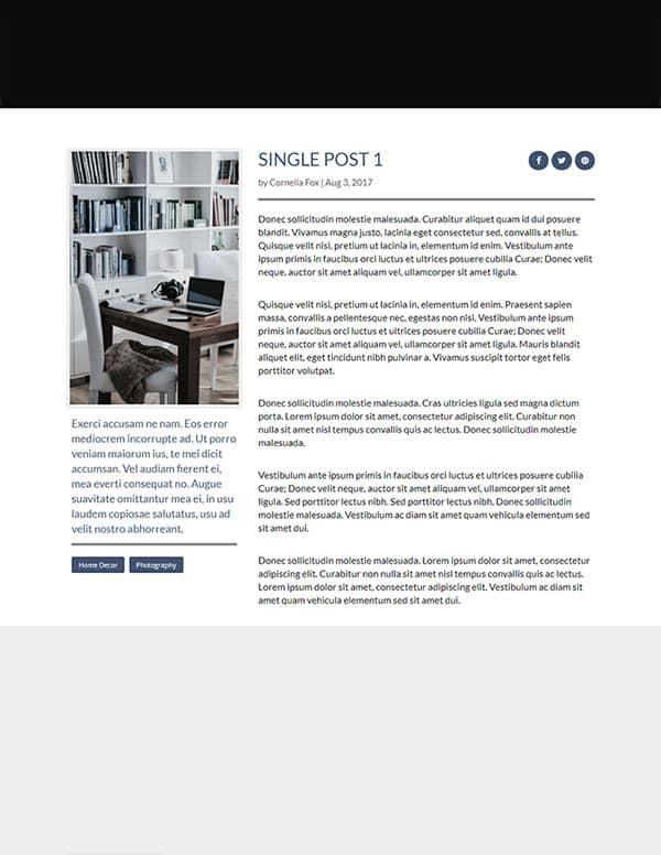 layouts divi pour blog single post