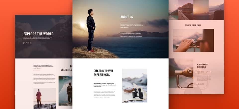 layouts divi pour blog travel