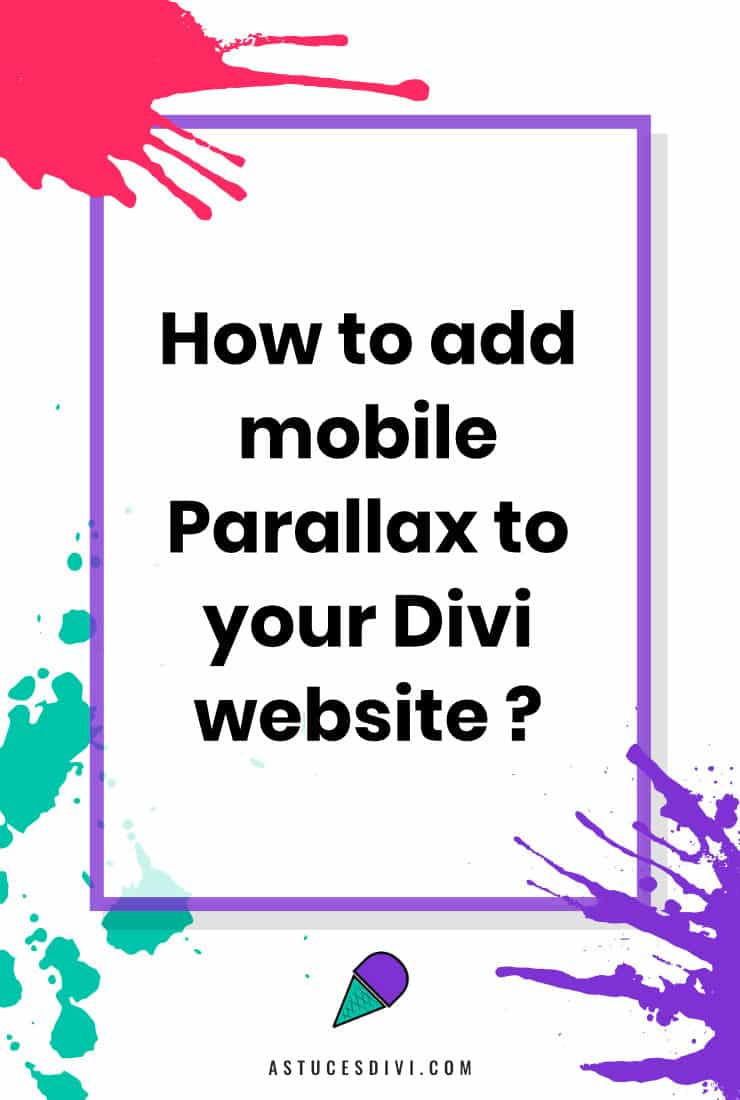 add mobile Parallax to Divi website