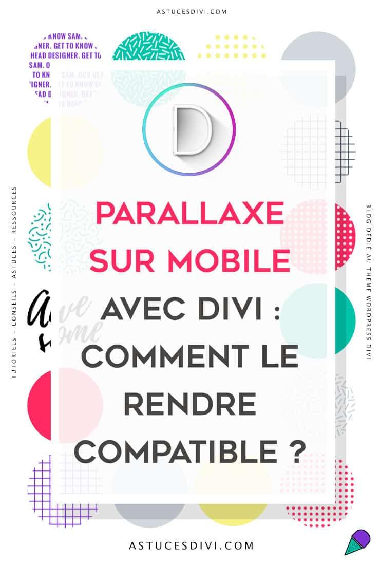 parallaxe mobile Divi