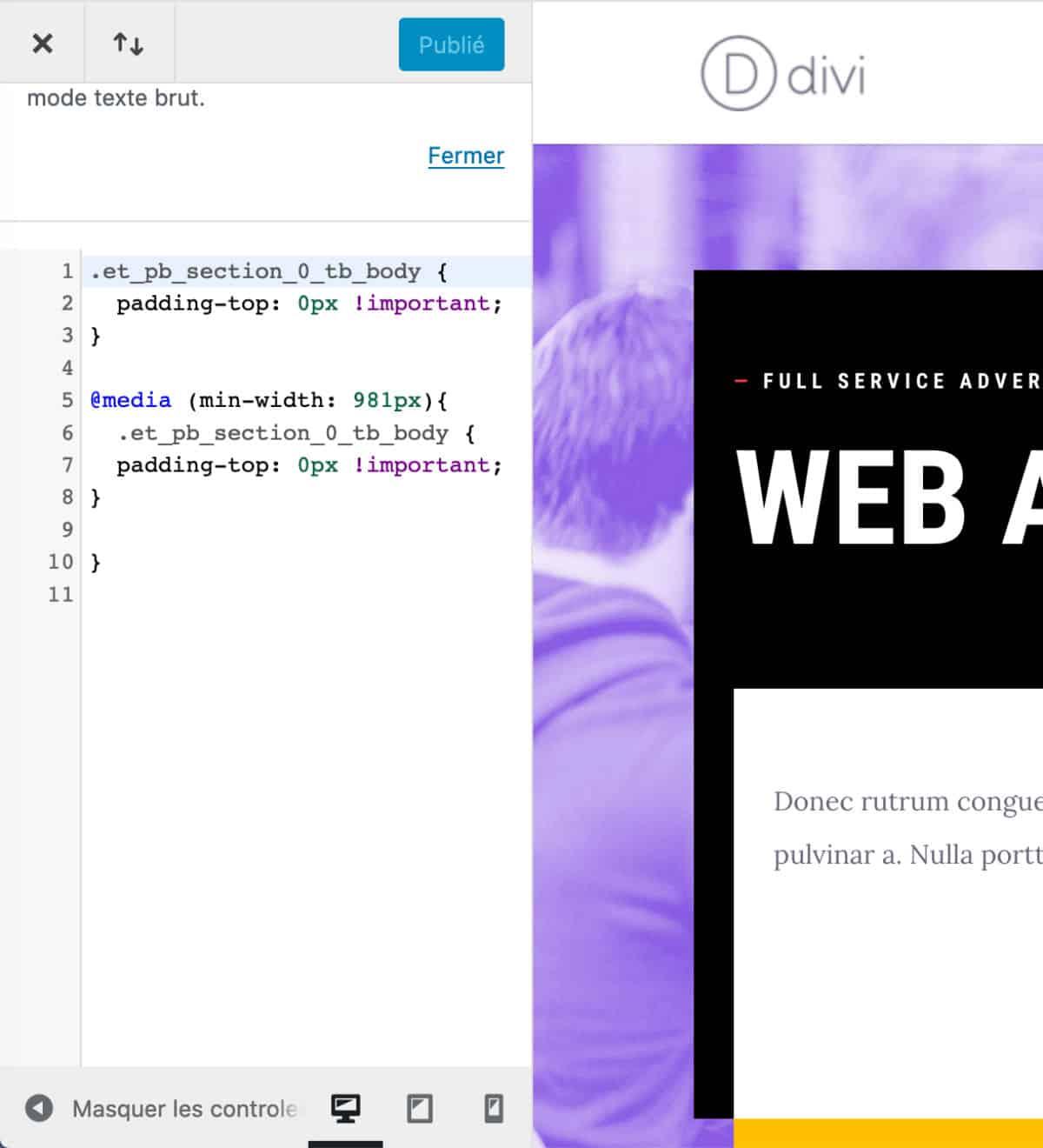 """Ajout de CSS pour la rangée """"pleine largeur"""""""