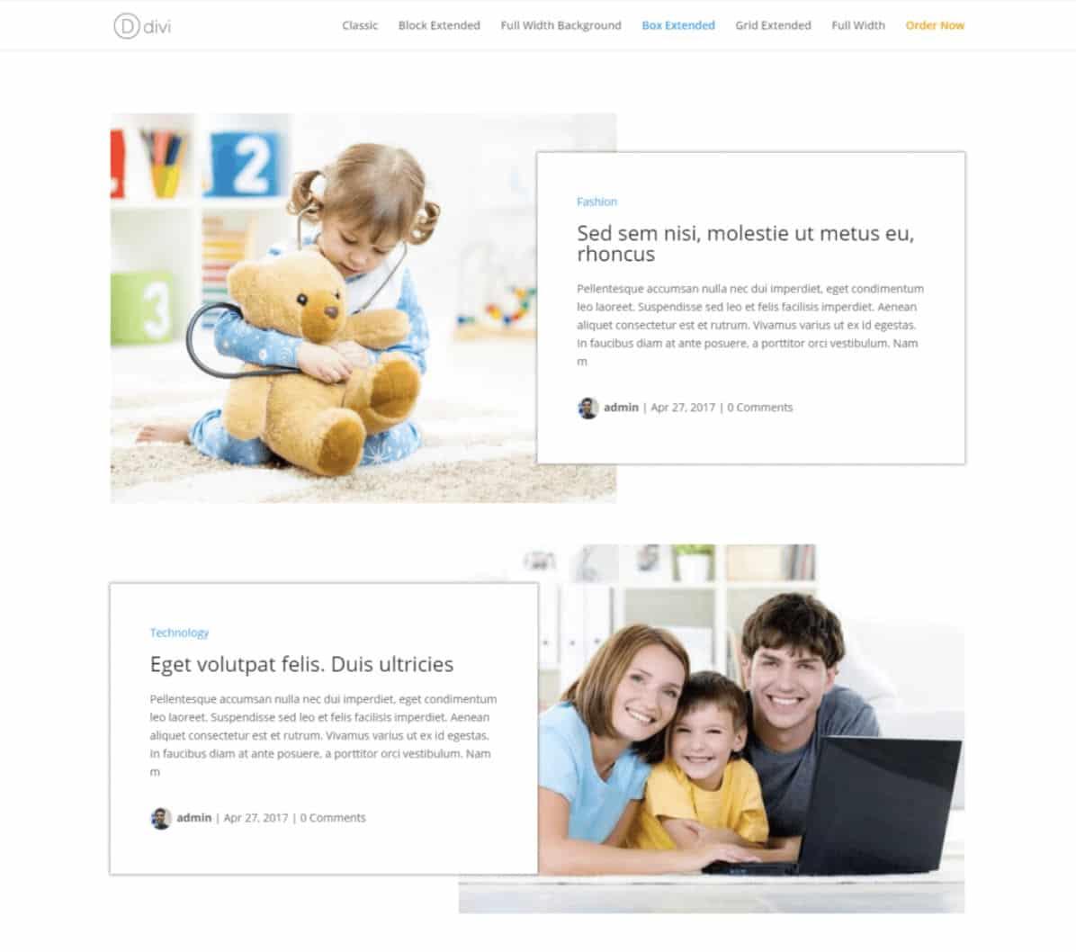 Divi Blog Extra