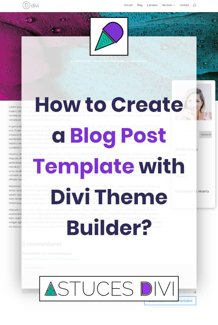 Blog Post Template with Divi Theme Builder
