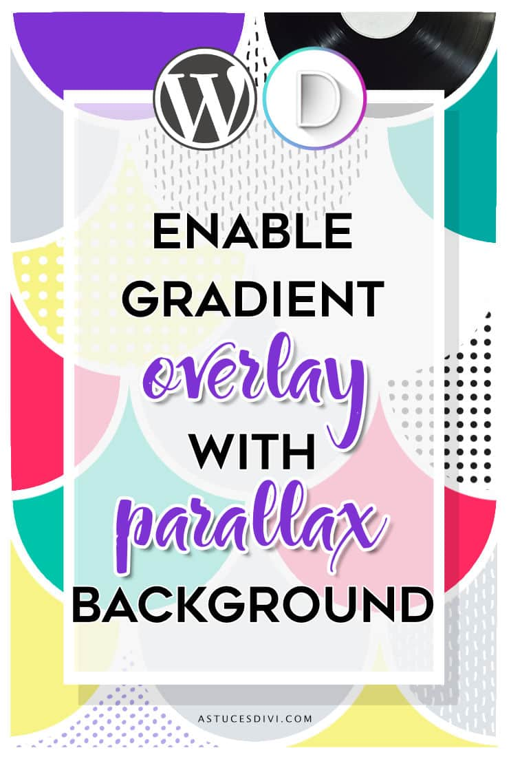 Gradient overlay on parallax background