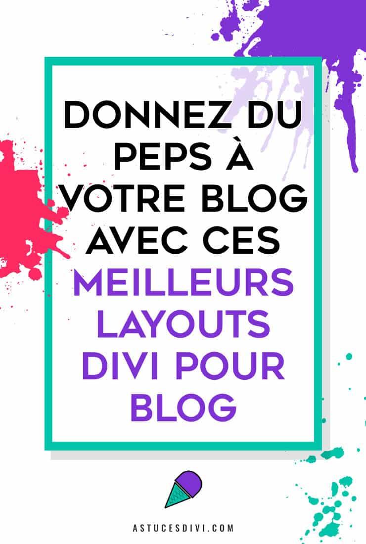 layouts pour designer le blog de Divi