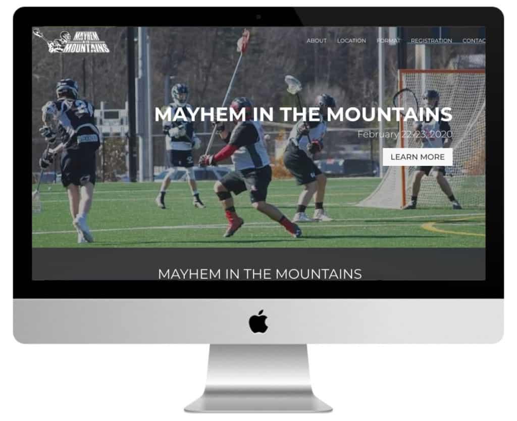 site de sport Divi : Mayhem