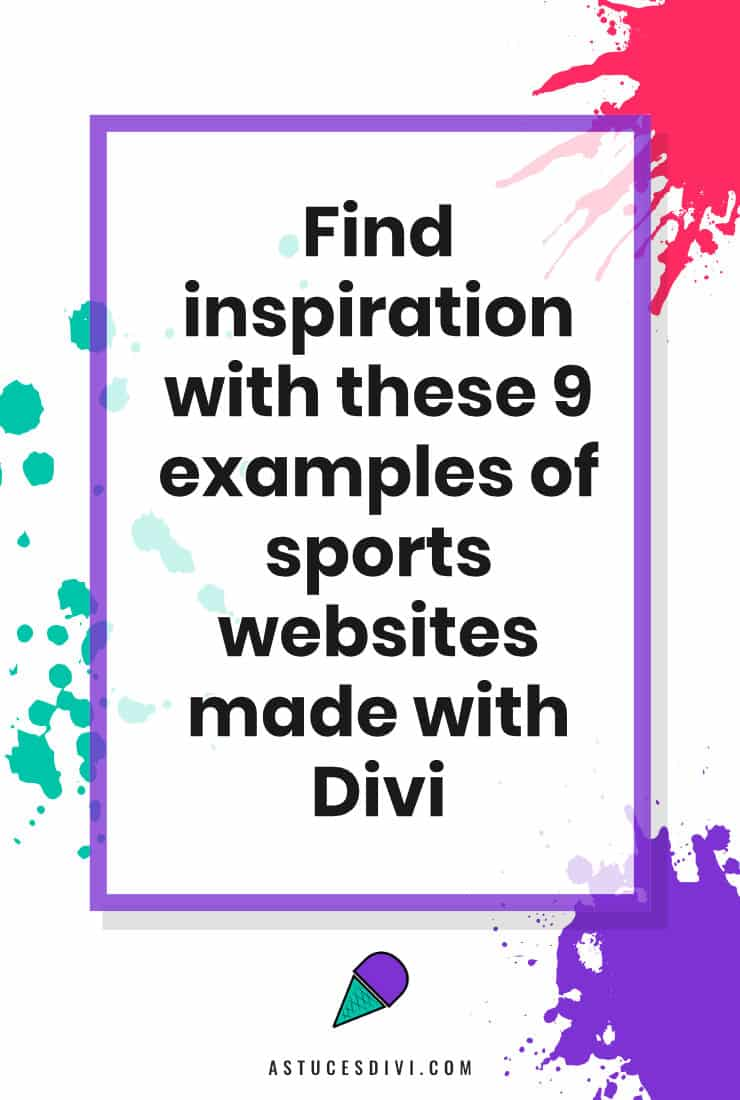 Sport Website made with Divi