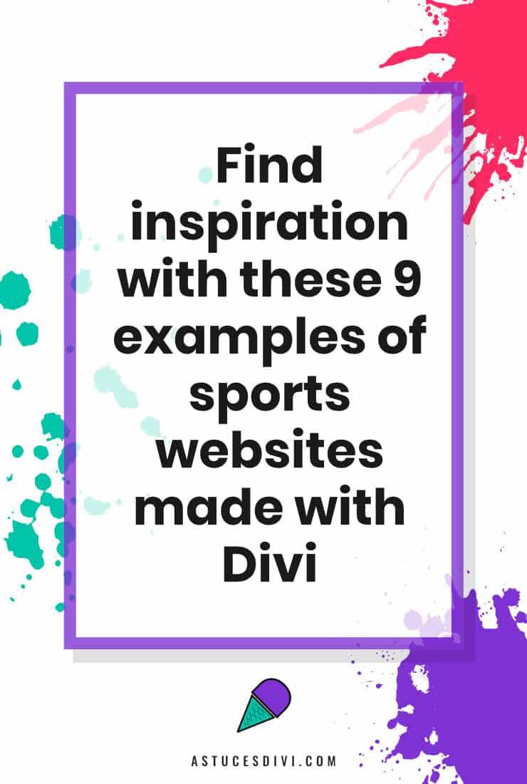 Sport Website made with Divi