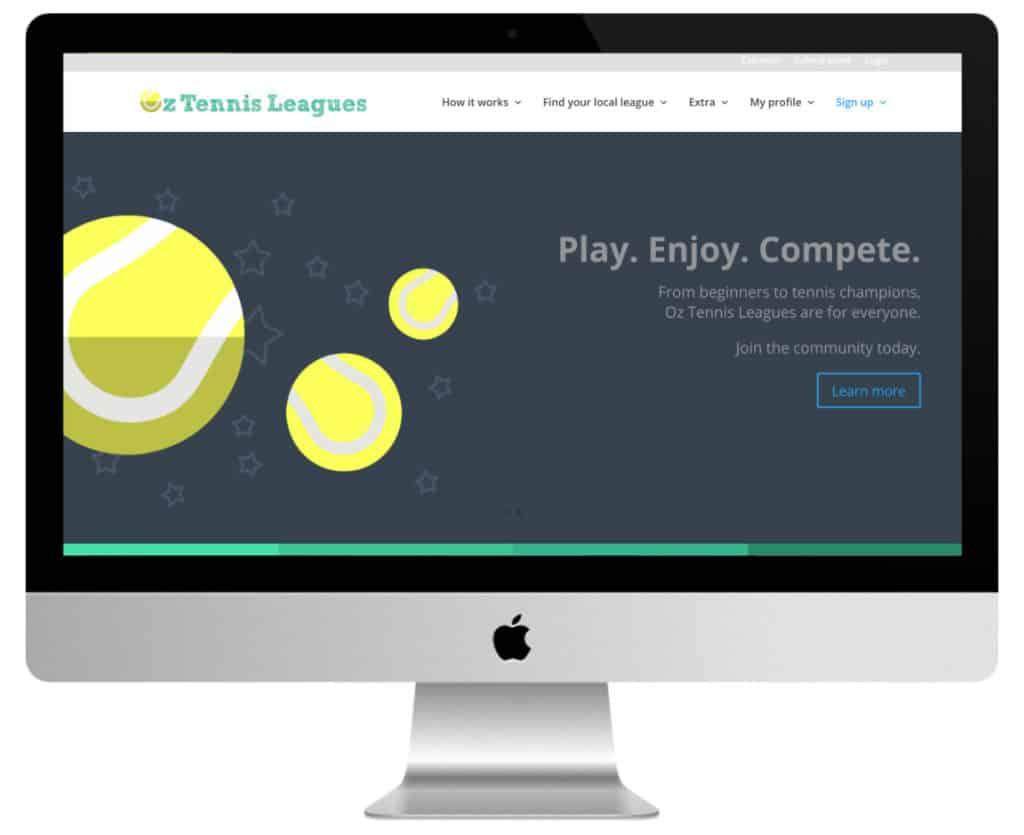 site de sport Divi : tennis