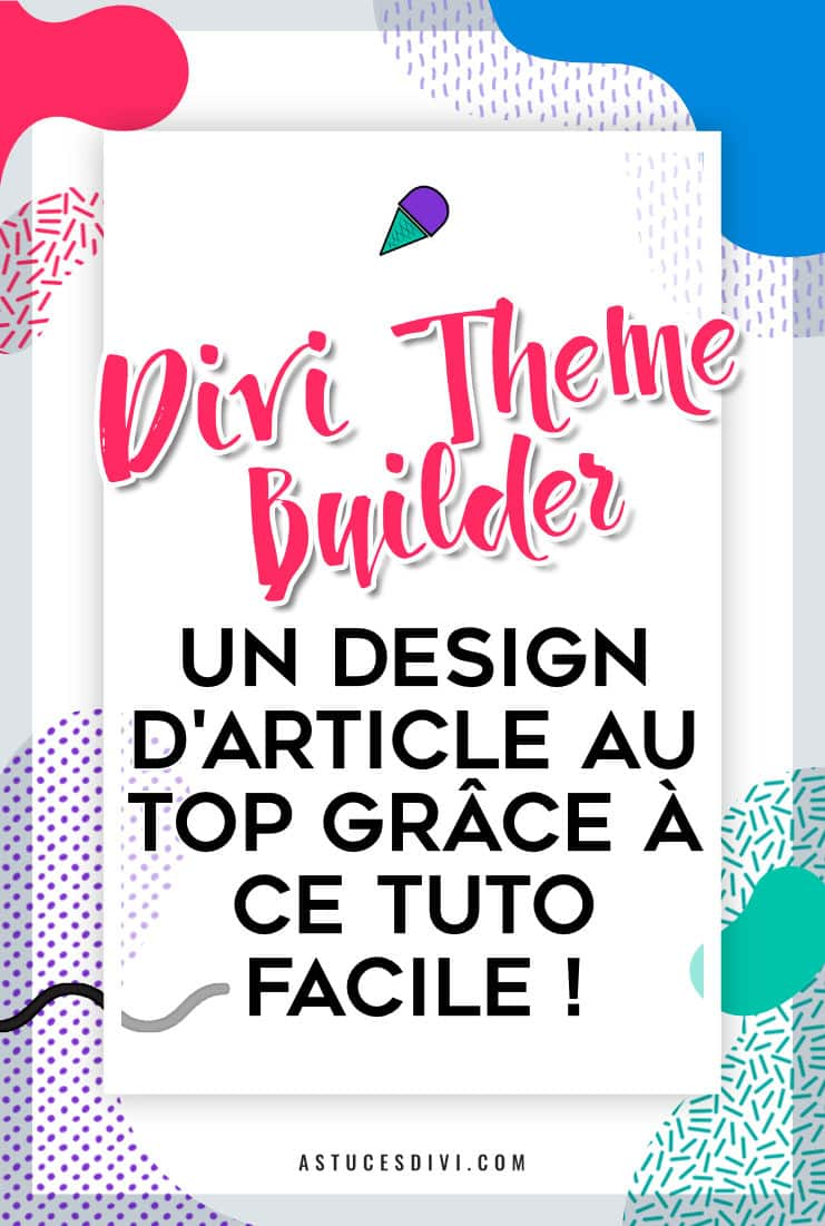 Template article Divi Theme Builder