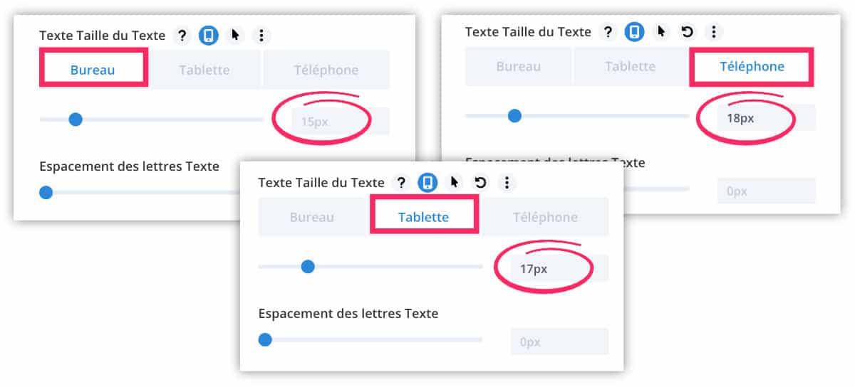 Définir taille du texte en responsive design