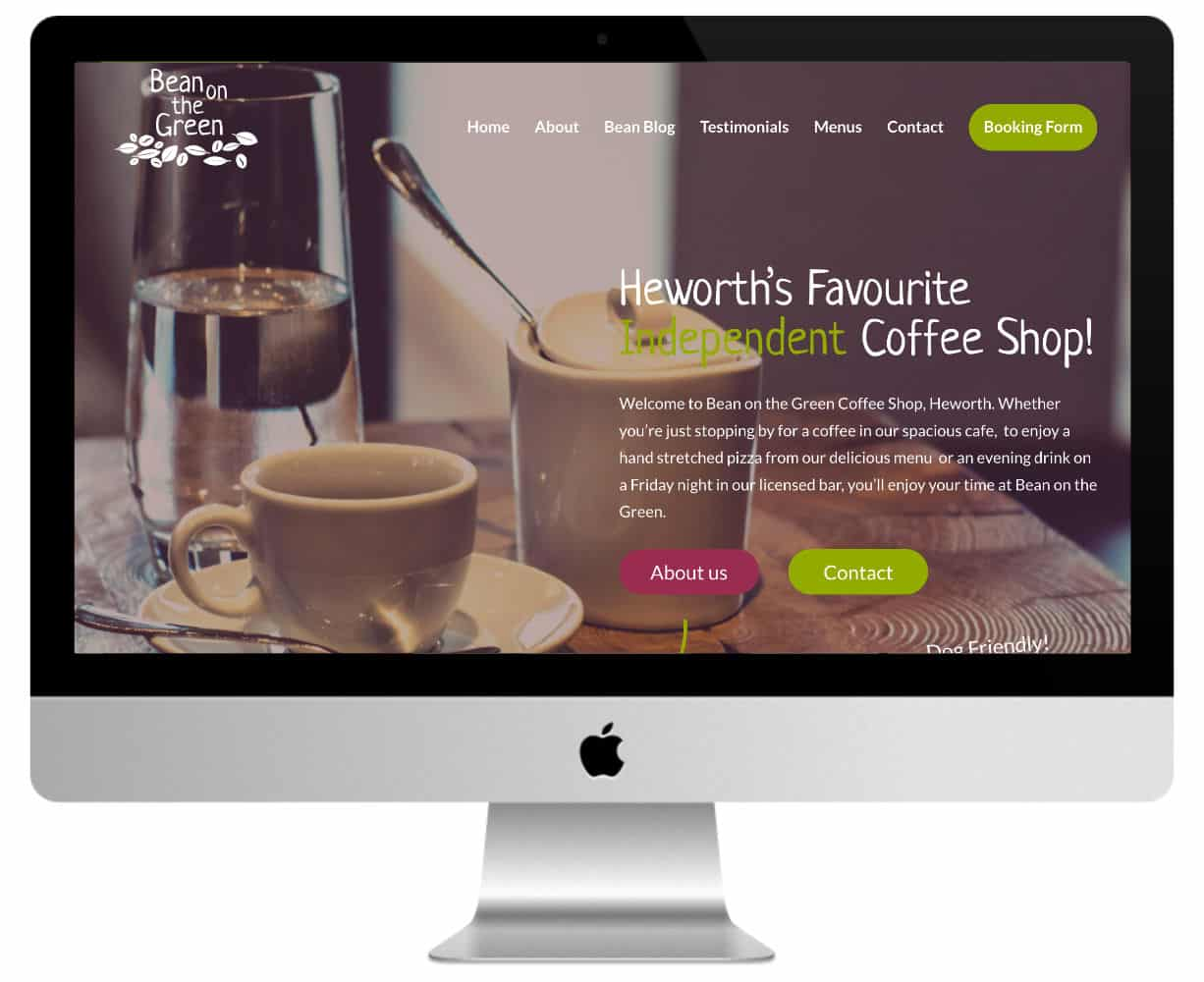 Bean on the Green : siteweb alimentaire