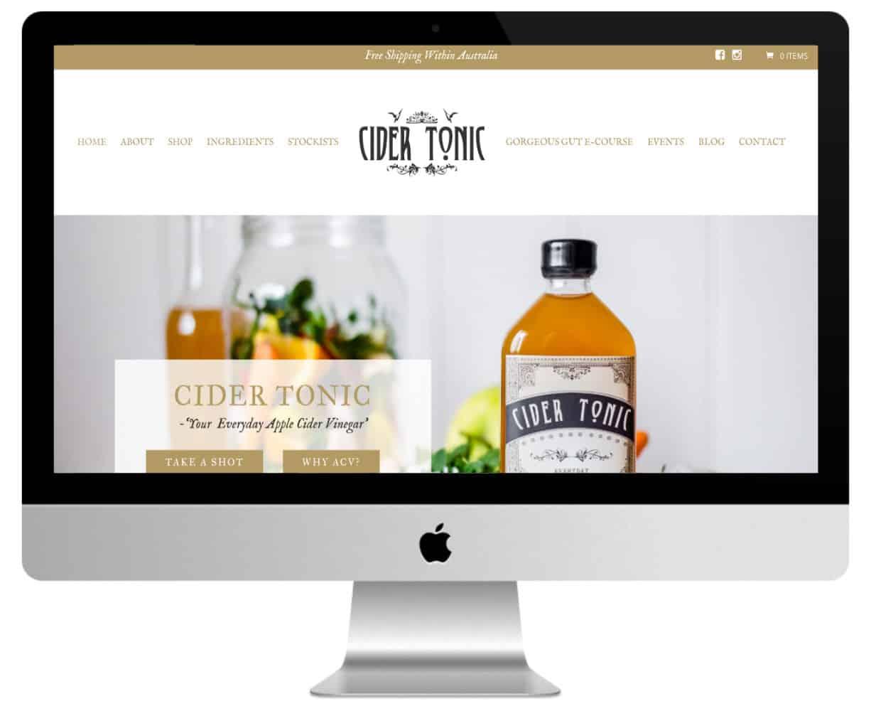 Cider Tonic : sites Divi du secteur alimentaire