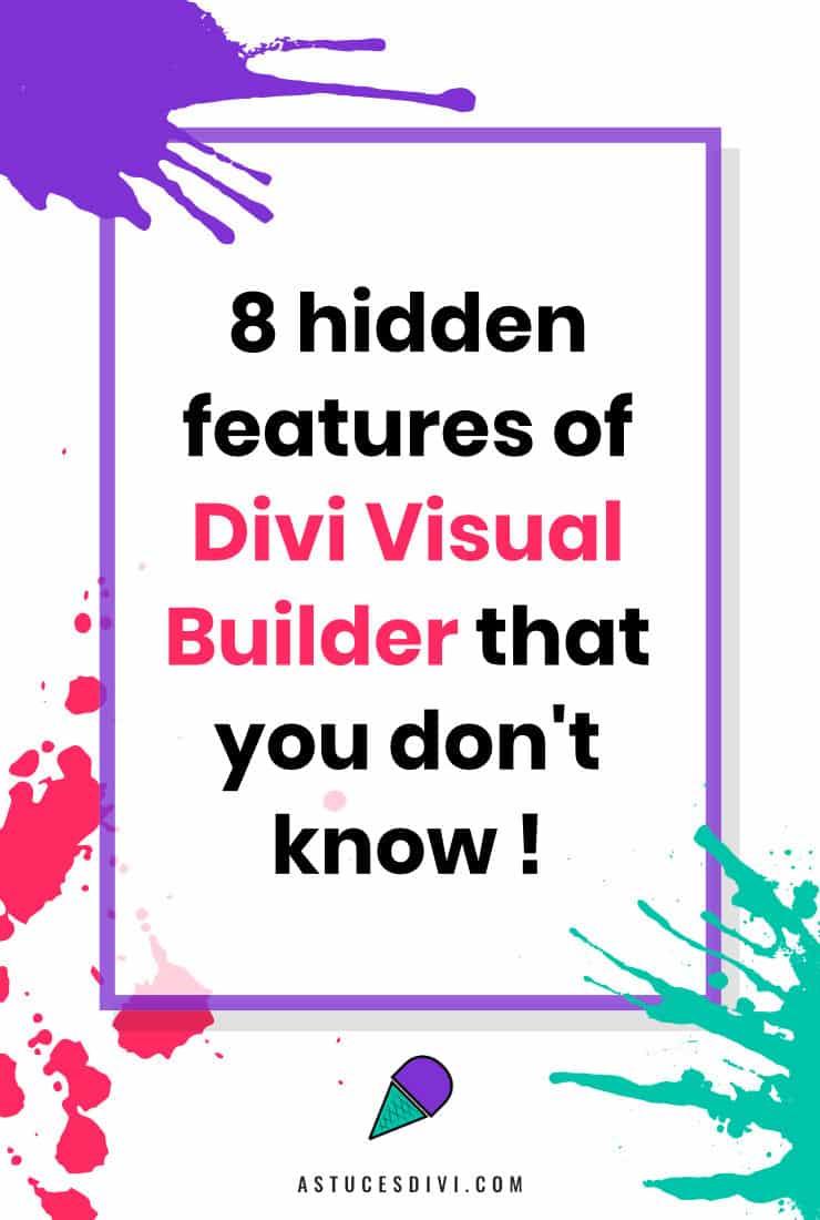 Hidden features of Divi Builder