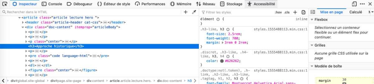 Inspecteur Firefox pour gérer le responsive design de Divi