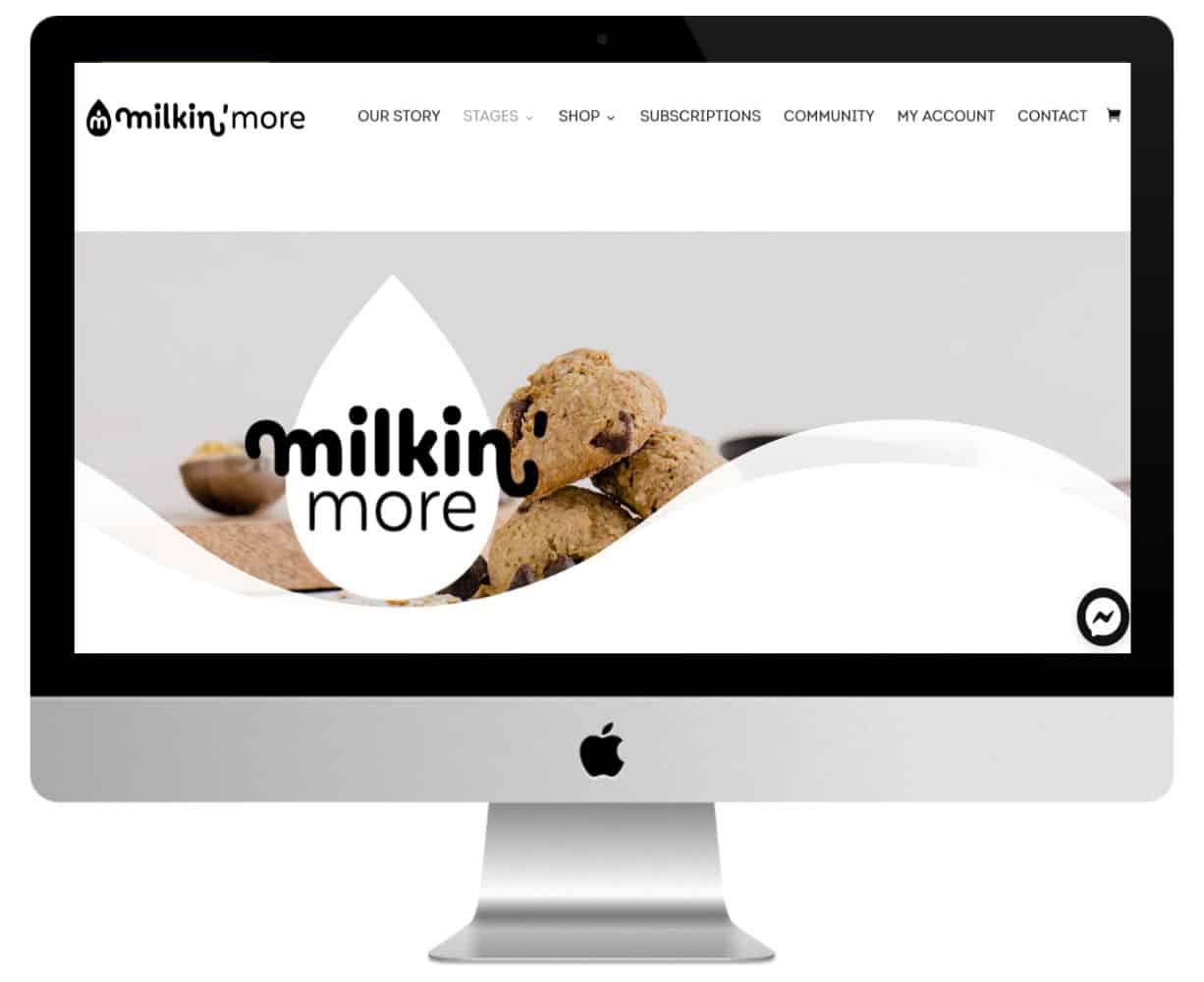 Milkin'More site secteur alimentaire fait avec Divi
