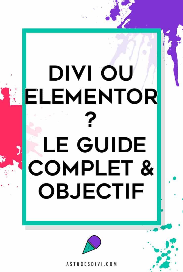 Guide Divi Elementor