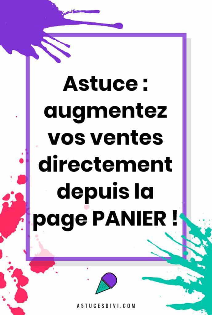 Augmenter Ventes depuis la page Panier