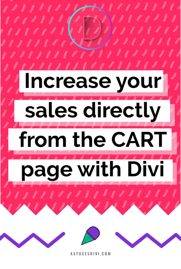Increase Sales from cart page Divi