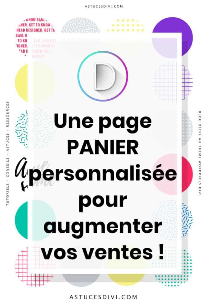 Page Panier Divi