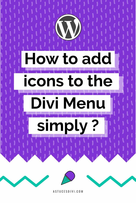 Add Icon Divi Menu