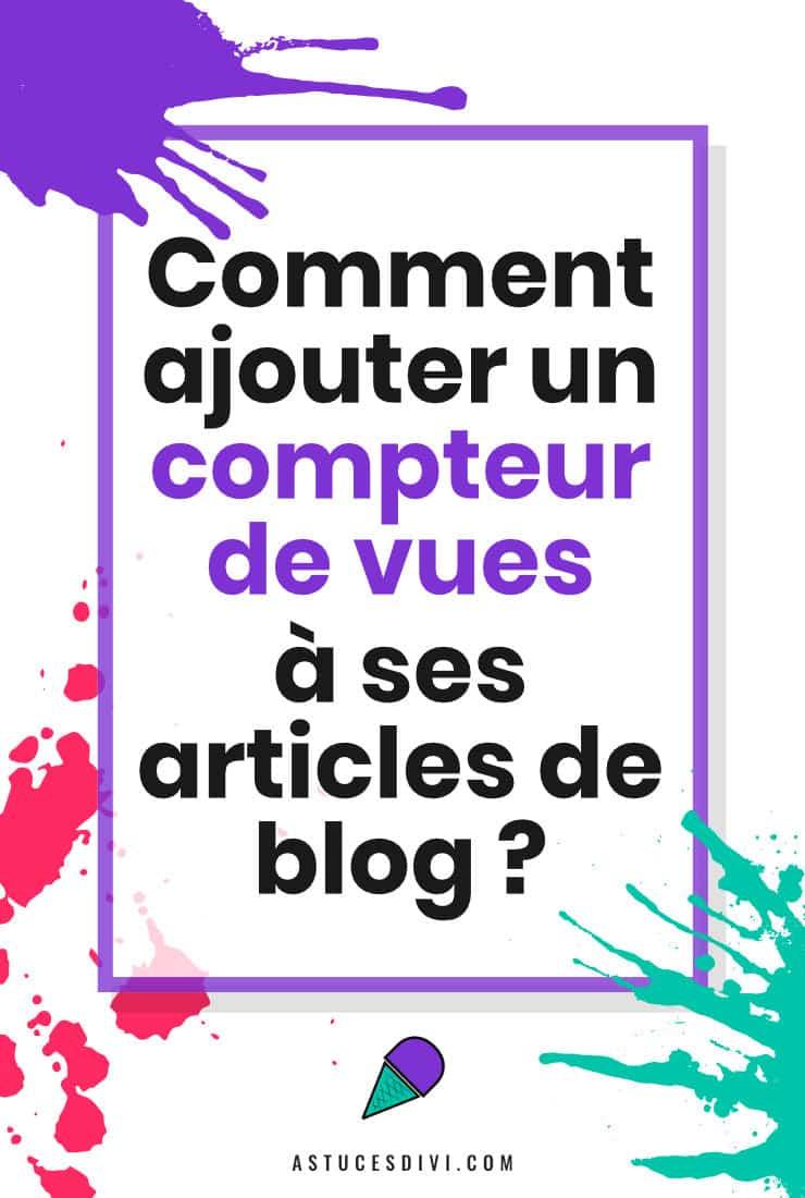 Ajouter Compteur De Vue Articles WordPress