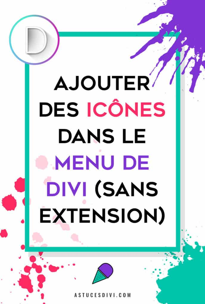 Icone Menu Divi Pinterest