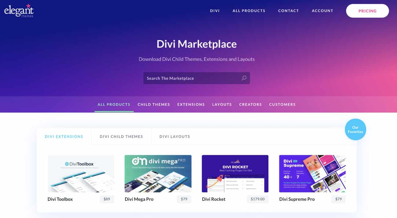 Divi Marketplace