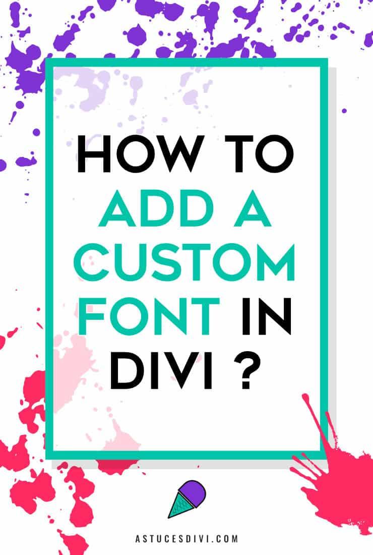Add custom font in Divi